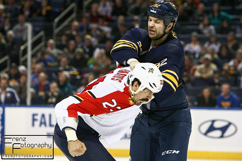 George Parros vs John Scott fight, Buffalo Sabres vs Florida Panthers 2/3/13
