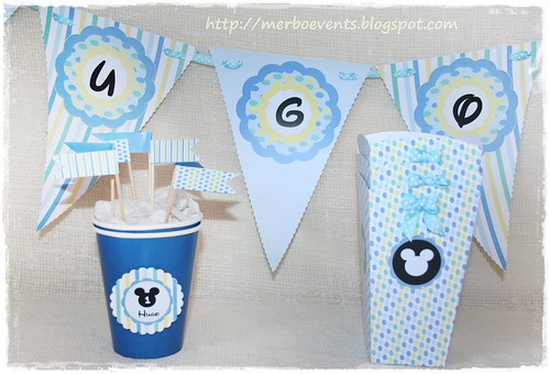 Flags Kit imprimible Mickey mouse by Merbo Events