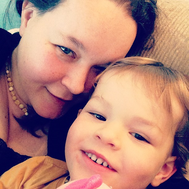 "Me and the big one. I love how ""toothy"" 3 year olds are! :) x"