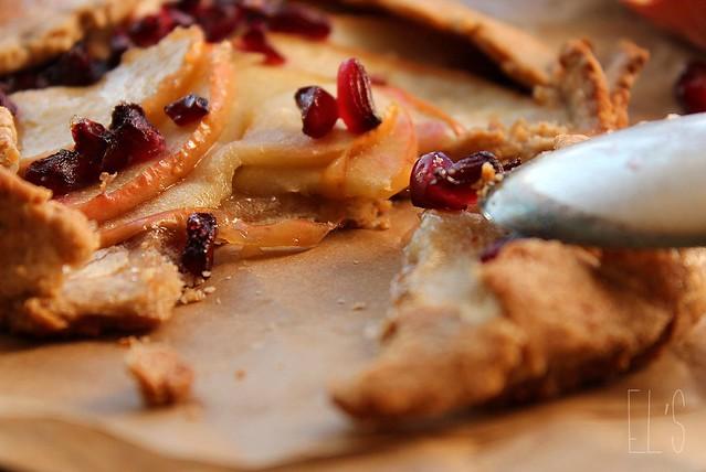 Tartelettes rustiques aux pommes et à la grenade