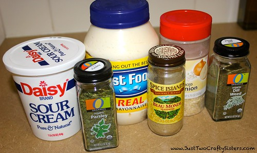Dill Dip Holiday Recipe Ingredients