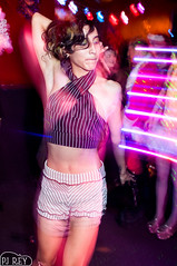 abdomen, leg, fashion, lady, blond, disco, nightclub, pink,