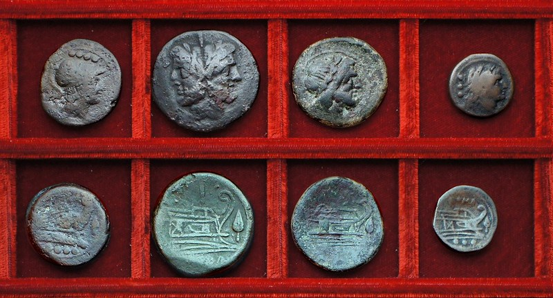 RRC 088 spearhead triens, RRC 88 Sardinian variety spearhead bronzes, Ahala collection, coins of the Roman Republic