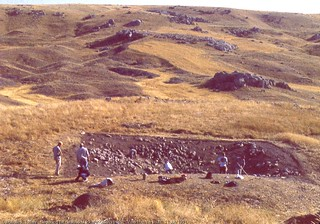 Gavurkalesi, Turkey.   Beginning the clean-up of von der Osten's trench.