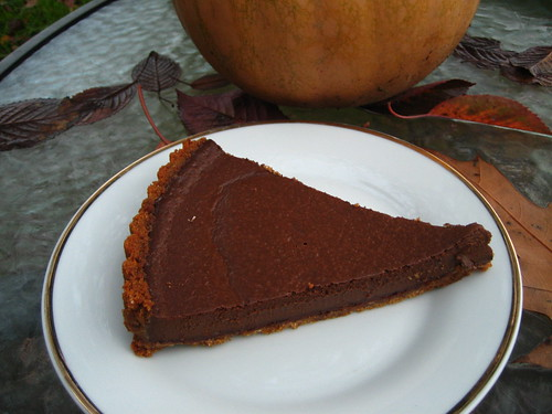 chocolate pumpkin tart