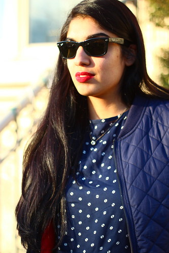peplum + quilted bomber