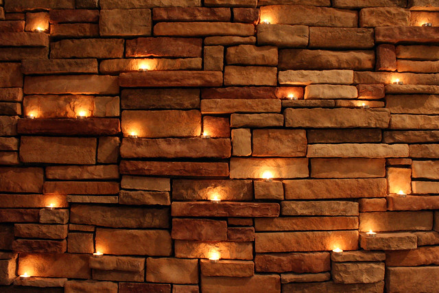 Candles on Rock Wall Flickr - Photo Sharing!