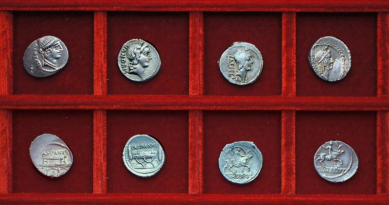 RRC 473 PALIKANVS Lollia, RRC 474 L.VALERIVS ACISCVLVS Valeria, Ahala collection Roman Republic