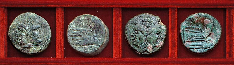 RRC 479 MAGNVS EPPIVS LEG, RRC 479 MAGN IMP Sextus Pompey, RRC 480-1,2 L.BVCA M.METTIVS DICT QVART Aemila, Mettia, Julius Caesar, Ahala collection Roman Republic