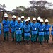All ladies demining team
