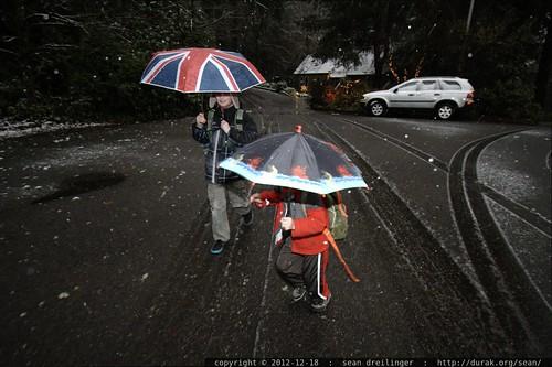 boys walking to school in the falling snow    MG 0577