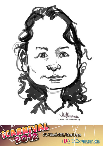 digital live caricature for iCarnival 2012  (IDA) - Day 1 - 53