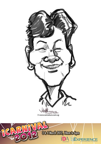 digital live caricature for iCarnival 2012  (IDA) - Day 1 - 28