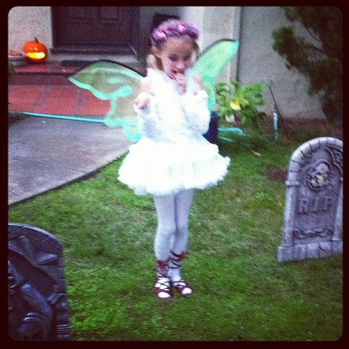 The fairy in the graveyard
