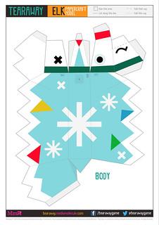 Tearaway: Papercraft Reindeer Body