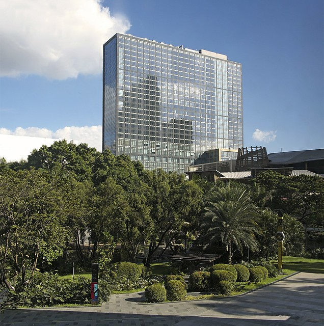 Raffles and Fairmont Makati Facade Shot