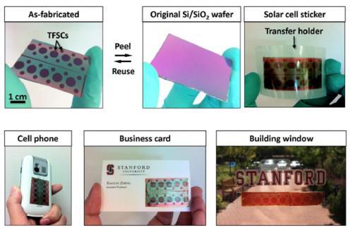 Самоклеющиеся солнечные батареи создали ученые из Стэнфордского университета
