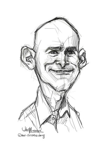 digital caricature of SRonen Samuel for Hewlett Packard - 1