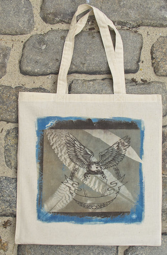 Eagle over Falling Feathers by Handmade On Peconic Bay