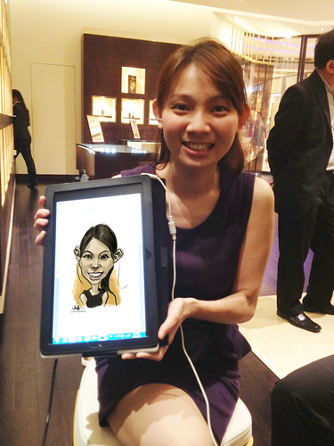 digital caricature live sketching for Vacheron Constantin - 2a