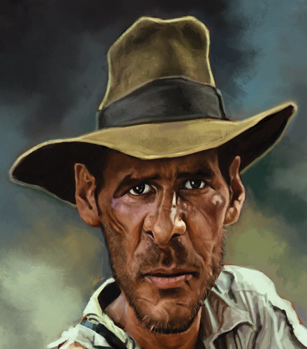 digital caricature of Harrison Ford - 4