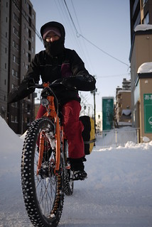 Maxx Bikes Pacemaxx Comfort in snow (Sapporo, Japan)