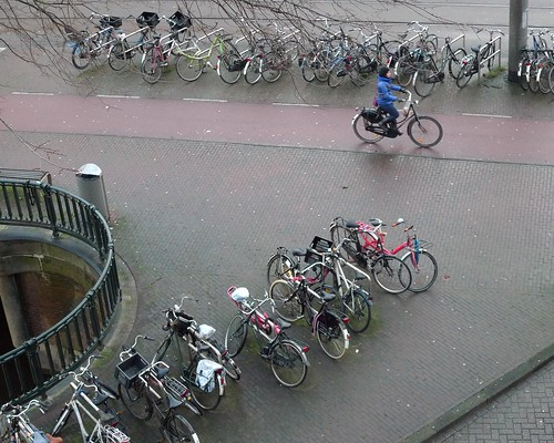 bike racks outside our home in amsterdam.
