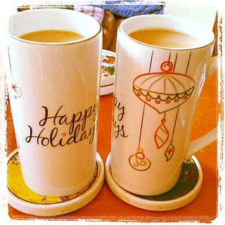 The calm after the #Christmas storm! I love these his & hers holiday mugs by #foodnetwork gifted by a dear friend last year!