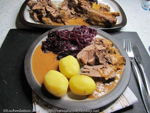 ©Rehkeule aus dem Slow Cooker mit Rotkohl