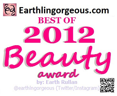 Earthlingorgeous.com Best of 2012 Beauty Award