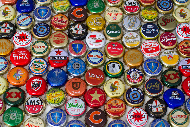 Beer bottle caps galore flickr photo sharing for What to make with beer bottle caps