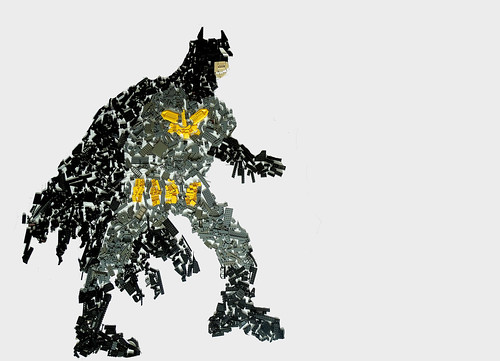 The Caped Crusader: A Scatter Mosaic
