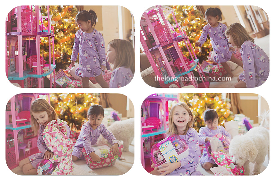 Christmas Morning Dollhouse Collage