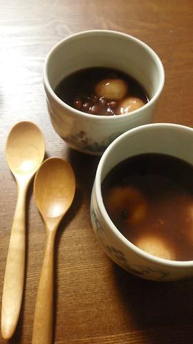 豆腐白玉ぜんざい by nekotano