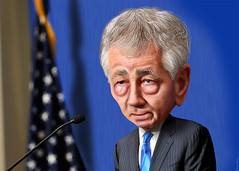 Chuck Hagel - Caricature