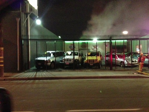 Fire at Chequered Flag: 12-28-12