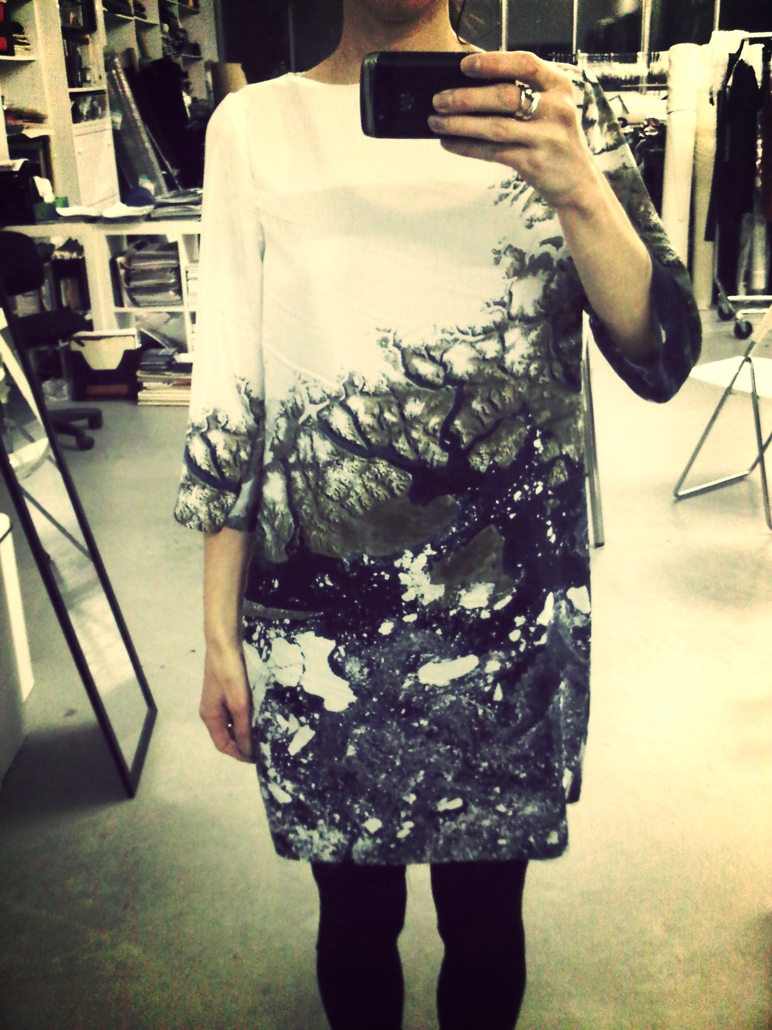 sneak peek on our new dress co-created with valérie dumaine #earth #nasa #creativecommons @slowfactory_