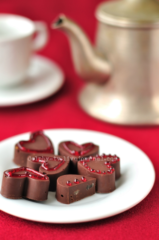 Heart-Shaped Chocolate Candies