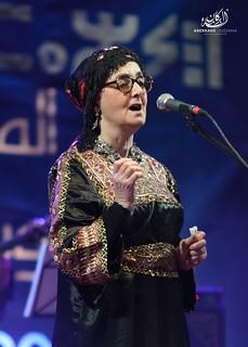 Nouara Chanteuse Kabyle au festival national de la musique amazigh a Tamenrasset