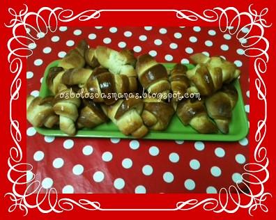 Croissants com doce d'ovos by Osbolosdasmanas