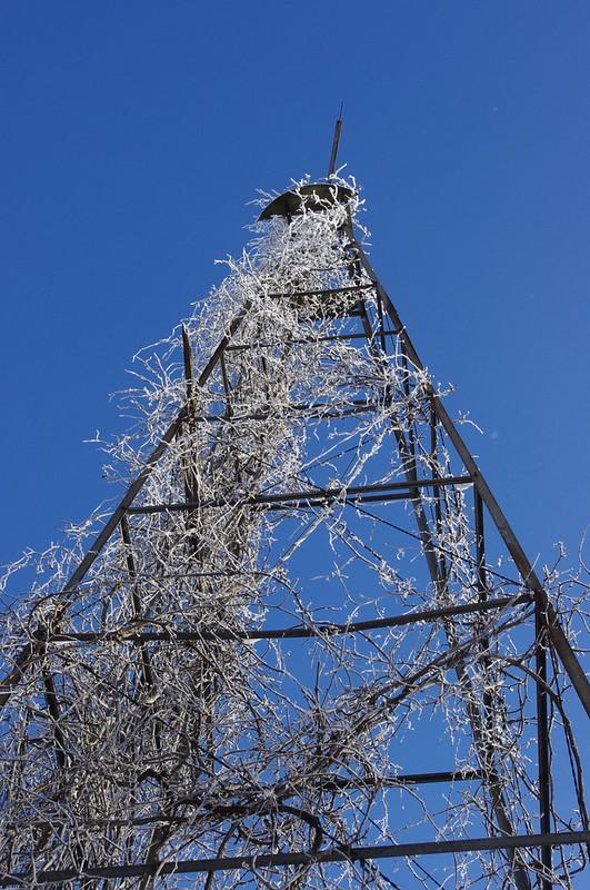 frosty southern minnesota windmill