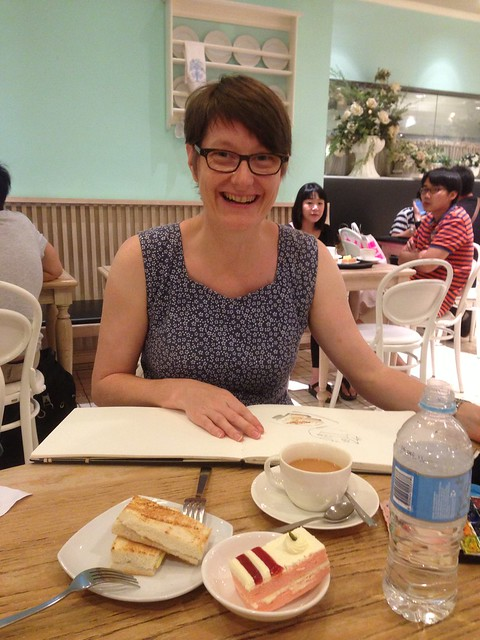 Sketching with Liz Steel in Singapore