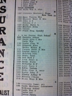 Page from 1921? City Directory