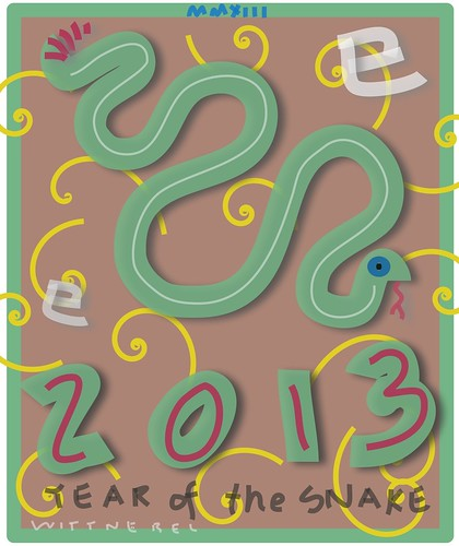 2013, year of the snake by douglaswittnebel