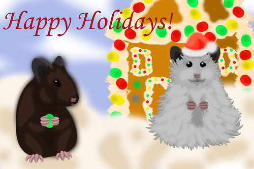 A holiday painting I did for Nini