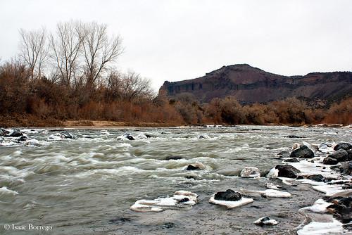 winter snow newmexico water canon river rebel xsi riogrande whiterockcanyon ygs buckmanroad