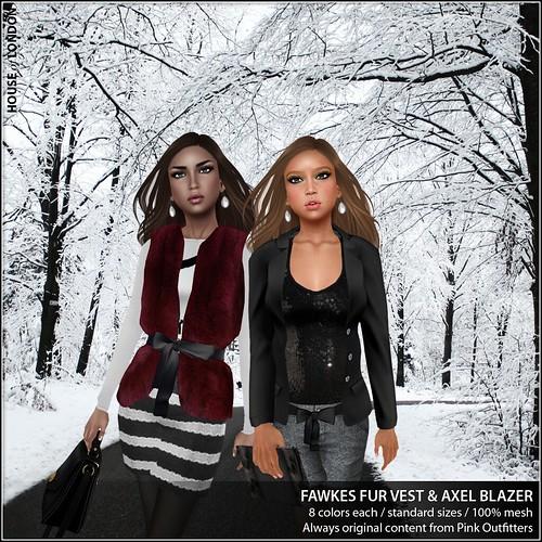 ad - Fawkes Fur Vest & Axel Blazer