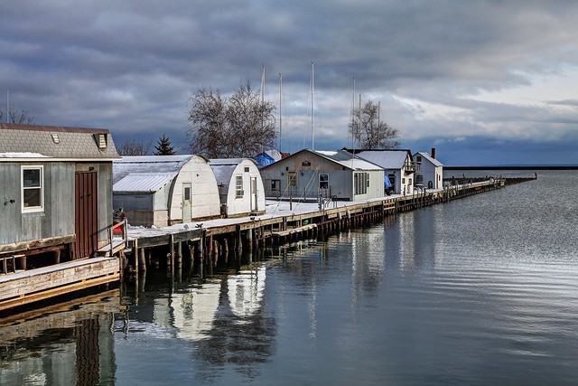 Winter at the Marquette Fish Dock