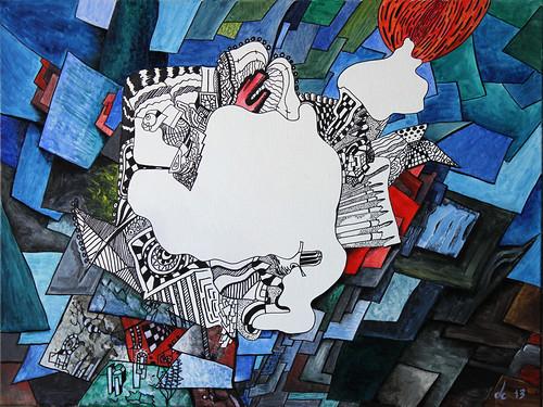 Mondrian elige la Pastilla Roja