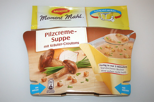 01 - Maggi Moment Mahl Pilzcremesuppe mit Kräuter-Croutons - Packung Front